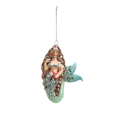 Enchanted Mermaid Glass Ornament | Big Sky Carvers | BSC