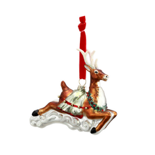 Blown Glass Reindeer Ornament | Big Sky Carvers | BSC