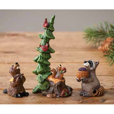 Forest Nativity Gift Bearers Figurines | Big Sky Carvers | BSC