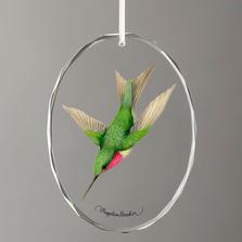 Ruby-Throated Hummingbird Crystal Ornament | Wild Wings