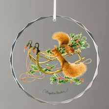 Squirrels Crystal Ornament | Going for a Ride | Wild Wings