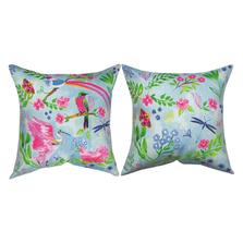 Funky Pink Birds Indoor/Outdoor Pillow | Manual Woodworkers | SLFPBR