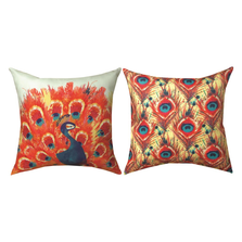Peacock Flowers Pillow | Manual Woodwookers | SLPCFL