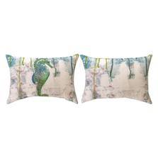 """Seahorse Indoor Outdoor Throw Pillow """"Jewels of the Sea"""" 