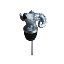 Stainless Steel Carved Ram Wine Pourer - Aerator | Menagerie | M-SSPR-069
