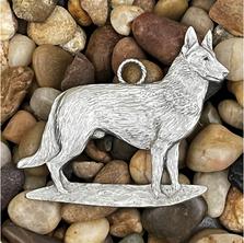 German Shepherd Pewter Ornament | Andy Schumann | SCHMC