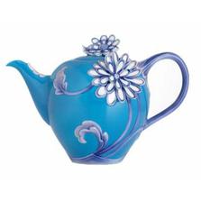 Tricolour Chrysanthemum Teapot | FZCP00023 | Franz Porcelain Collection
