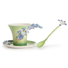 Lily of the Nile Flower Cup Saucer Spoon | FZ02615| Franz Porcelain Collection