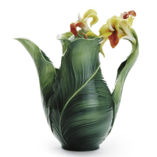 Brilliant Blooms Canna Lily Flower Teapot | FZ01816 | Franz Porcelain Collection