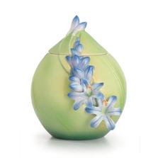 Lily of the Nile Flower Sugar Jar   fz02618   Franz Porcelain Collection