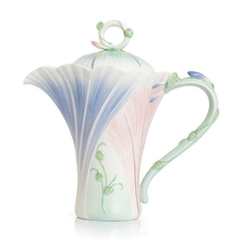 Le Jardin Morning Glory Flower Teapot | FZ02340 | Franz Porcelain Collection