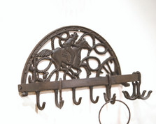 Cast Iron Cowboy Round Wall Hook | Manual Woodworkers | IMWHIC