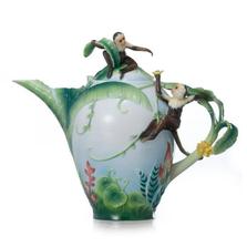 Jungle Fun Monkey Teapot   fz02006   Franz Porcelain Collection