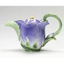 Periwinkle Flower Teapot | FZ00990 | Franz Porcelain Collection
