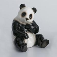 Panda Bear Sitting Sculptured Porcelain | FZXP1001A | Franz Collection