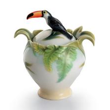 Paradise Calls Toucan Sugar Jar | fz00344 | Franz Porcelain Collection