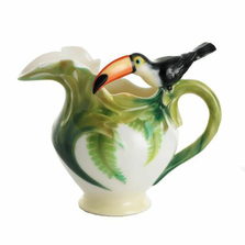 Paradise Calls Toucan Creamer | fz00345 | Franz Porcelain Collection