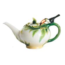 Paradise Calls Toucan Teapot | fz00346| Franz Porcelain Collection
