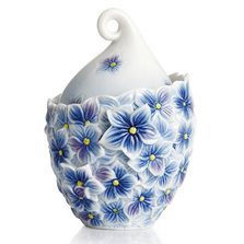 Floral Bouquet Sugar Jar   FZ02277   Franz Porcelain Collection