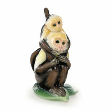 Jungle Fun Monkey Father and Son| fz02013A | Franz Porcelain Collection