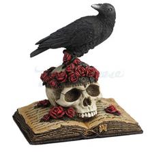 "Crow Perching on Skull ""The Raven""| Unicorn Studios | USIWU76495VA"