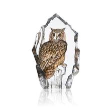 Eagle Owl Crystal Sculpture | 34802 | Mats Jonasson Maleras