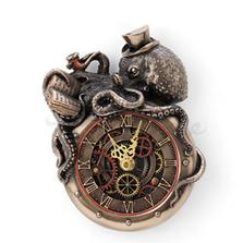 Steampunk  Octopus Professor Wall Clock | Unicorn Studio | WU77802A4