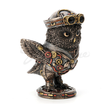 Steampunk Dixie Cup Submariner Owl Sculpture   Unicorn Studios   WU77788A4
