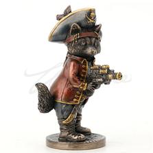 Jolly Roger Raccoon Buccaneer Sculpture | Unicorn Studios | WU77786A4