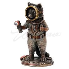 Raccoon Frogman Cadet Sculpture   Unicorn Studios   WU77796A4