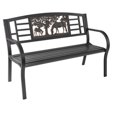 Horse Outdoor Bench   Painted Sky   TSB-HS