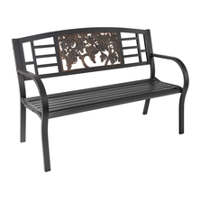 Grapes Outdoor Bench   Painted Sky   TSB-GP