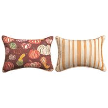Pumpkin Rectangle Throw Pillow | SHPMKN