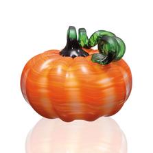 Striped Pumpkin Art Glass | 76144 | SPI Home
