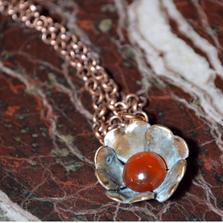 Sculptural Floral Necklace - Carnelian | Elaine Coyne Jewelry | ECFP316pdCA