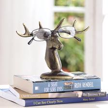 Deer Bust Eyeglass Stand Sculpture | SPI Home | 34613