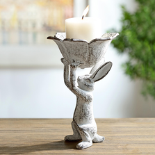 Bunny with Flower Candleholder | 64027 | SPI Home