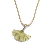 Gingko Single Leaf Pendant | Michael Michaud Jewelry | SS7852BZ -2
