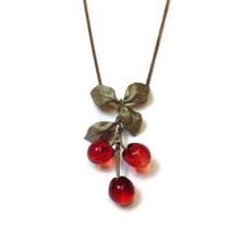 Morello Cherry Pendant Necklace | Michael Michaud Jewelry | SS7861bzrg