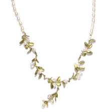 Boxwood Pearl Row Necklace | Michael Michaud Jewelry | SS7923BZWP -2