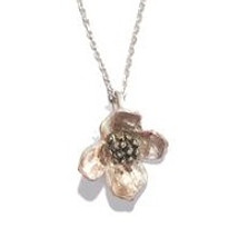 Dogwood Pendant Necklace   Michael Michaud Jewelry   SS8102bz -2