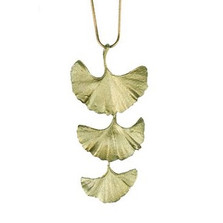 Gingko Large 3 Drop Necklace | Michael Michaud Jewelry | SS8167bz -2