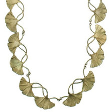 Gingko Adjustable Necklace | Michael Michaud Jewelry | SS8317BZ -2