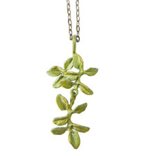 Thyme Pendant Necklace Petite Herb | Michael Michaud Jewelry | SS8951BZ