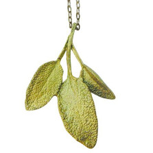 Sage Pendant Necklace Petite Herb | Michael Michaud Jewelry | SS8952BZ -2