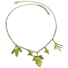 Petite Herb Charm Necklace on Chain | Michael Michaud Jewelry | SS8955BZ