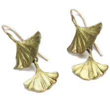 Gingko Double Drop Earrings | Michael Michaud Jewelry | SSDF4003