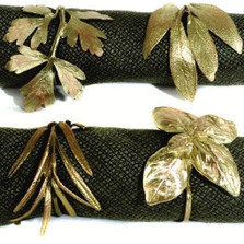 Italian Herb Napkin Rings Set of 4  | Michael Michaud Table Art | TAnr9394ab