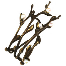 Pussy Willow Napkin Rings Set of 4  | Michael Michaud Table Art | TAnr9415br