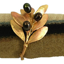 Olive Napkin Rings Set of 4  | Michael Michaud Table Art | TAnr9440abog